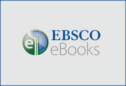 round logo in green and blue Ebsco written in bold blue