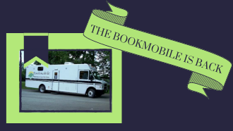 bookmobile with banner