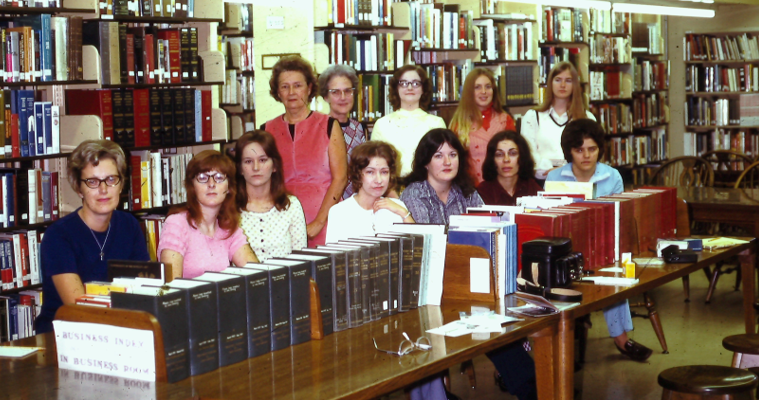 photo of librarians in the 70s