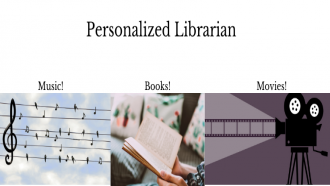 words personalized librarian showing picture of open book