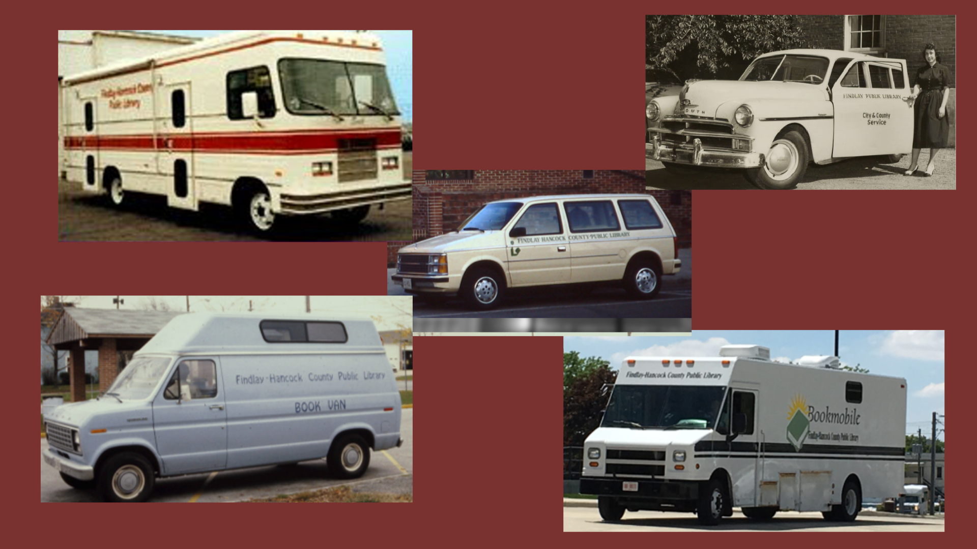 photo of different bookmobiles