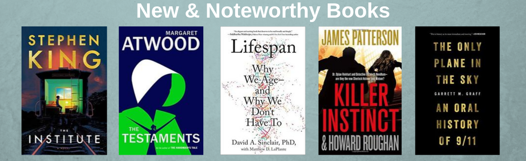 Covers of new and noteworthy books